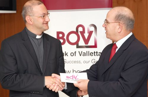 BOV supports Dar tal-Providenza with Christmas cards funds