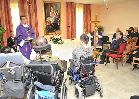 The President of Malta visits Santa Marta Centre