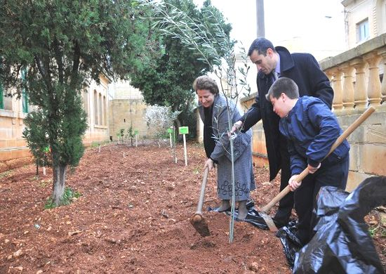 Arbor Day 2010 remembered by tree planting in Nadur