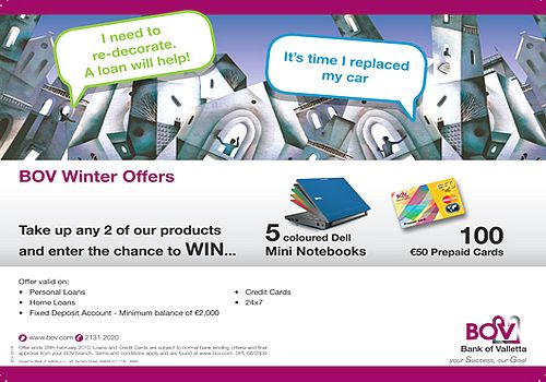 Winter Offers from Bank of Valletta
