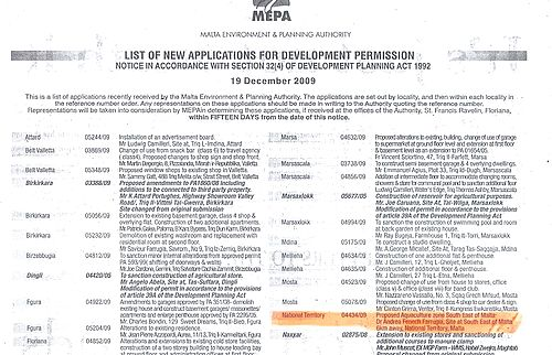 Acquaculture zone application was published in newspaper - MEPA