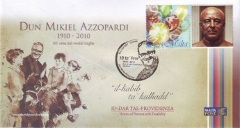 MaltaPost personalized Covers featuring Dun Mikiel Azzopardi