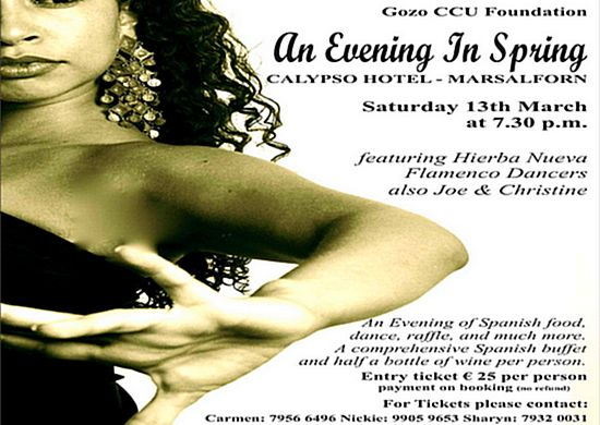 Gozo CCU Foundation's Spring evening event