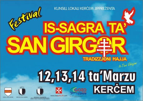 'Is-Sagra ta' San Girgor' - 3-day cultural festival in Kercem