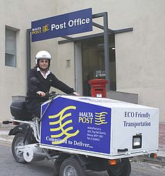 MaltaPost introduces Eco friendly vehicles