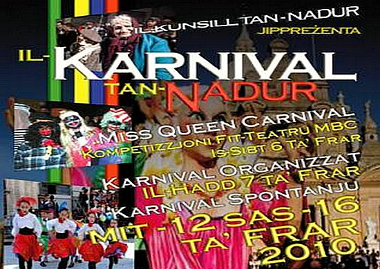 Nadur Carnival celebrations 2010 start this weekend