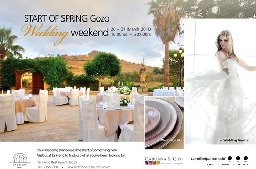 Gozo Wedding Weekend to be held at Ta' Frenc Restaurant