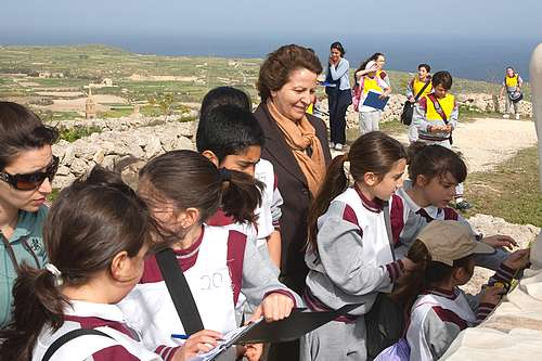 Gozo school children participate in Easter treasure hunt