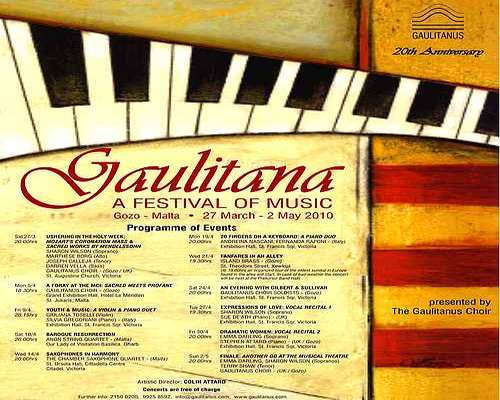 Gaulitana - 'A Festival of Music 2010' starts next week