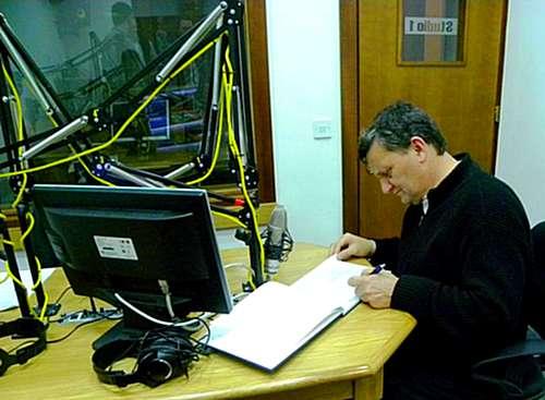 Bishop Mgr Mario Grech visits Radio Lehen il-Qala studios
