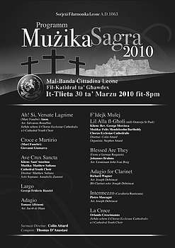 A Concert of Sacred Music to be held at the Gozo Cathedral