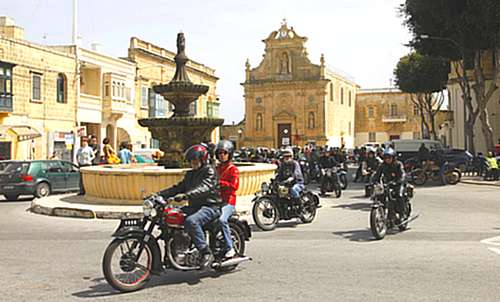 2nd International Classic Motorcycle Weekend visits Gozo