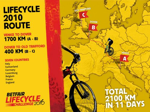Betfair Lifecycle Challenge 2010 route announced