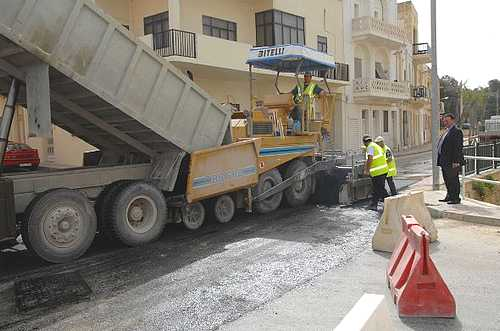 Road improvements being carried out in Marsalforn