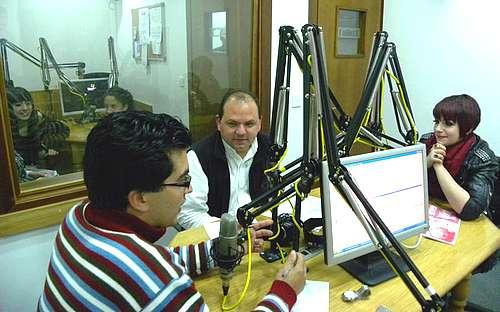 Thea Garrett pays visit to Radio Lehen il-Qala studios Gozo