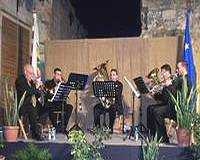 Gozo's Island Brass Quintet perform 'Fanfares in an alley'