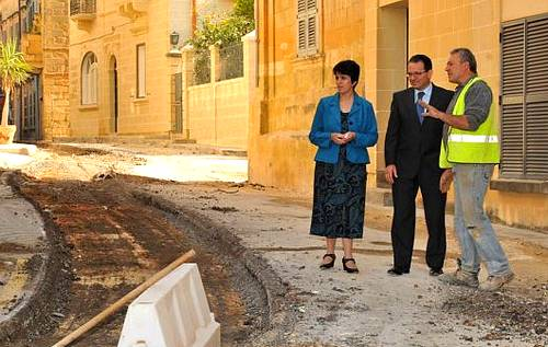 Nadur Local Council road works programme well underway