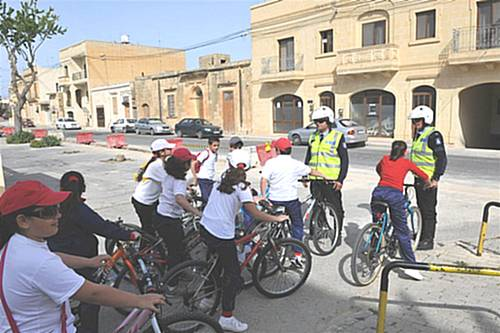 Eco-Gozo cycling initiative launched at Nadur Primary School