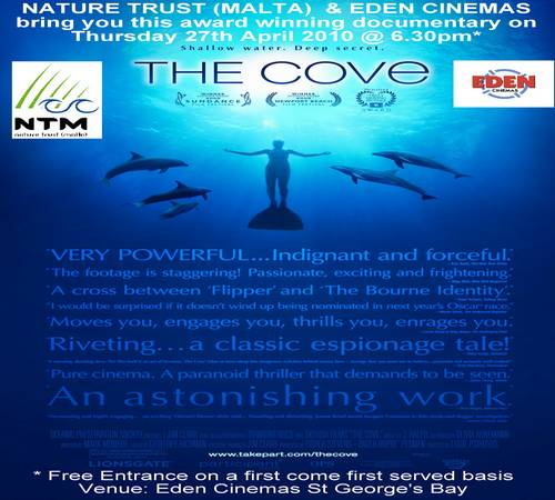 The Cove - Film exposing the cruelty &  captivity of dolphins