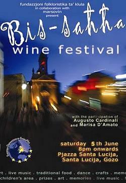 'Bis-Sahha' wine festival next Saturday at Santa Lucija