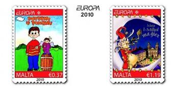 MaltaPost new stamp issue - 'Europa 2010 Childrens Books'