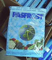 Environmental health warning on Pasfrost spinach