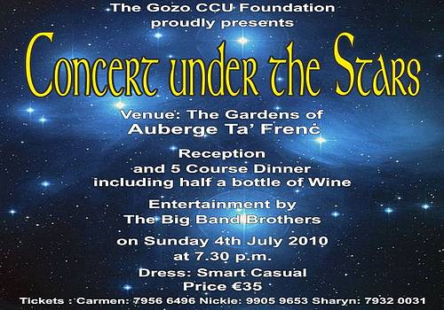 Concert Under The Stars in aid of the Gozo CCU Foundation