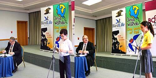 Schoolchildren ask Minister Pullicino about the environment
