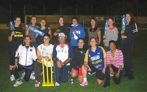 First women's cricket team have practice session and game