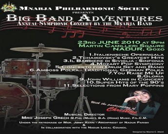 'Big Band Adventures' Annual Concert by the Mnarja Band