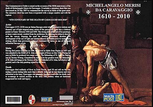 MaltaPost commemorates Caravaggio's 400th anniversary