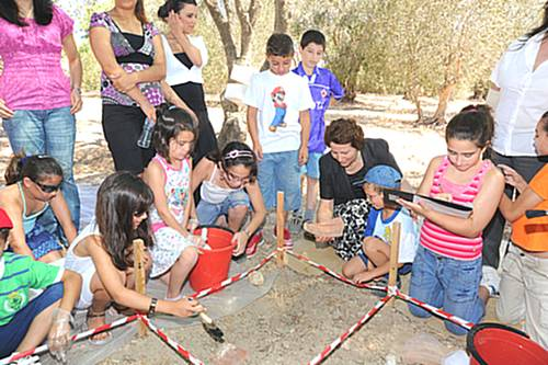 Students of Summer School in Gozo visit Ggantija Temples
