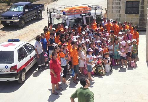 Munxar children visit the Malta Red Cross Gozo Branch