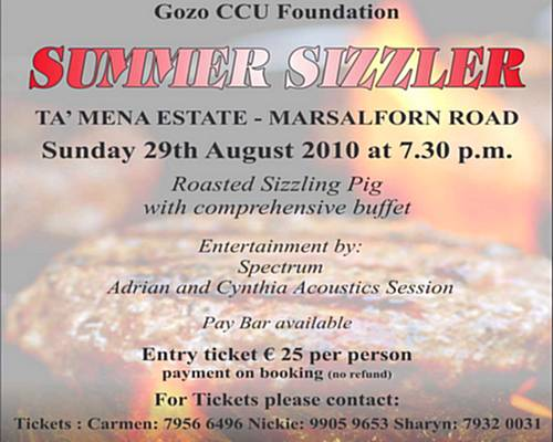 The 2010 Gozo CCU Foundation Summer Sizzler coming soon