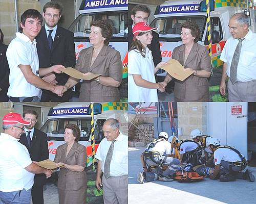 Certificates presented for Gozo Red Cross courses