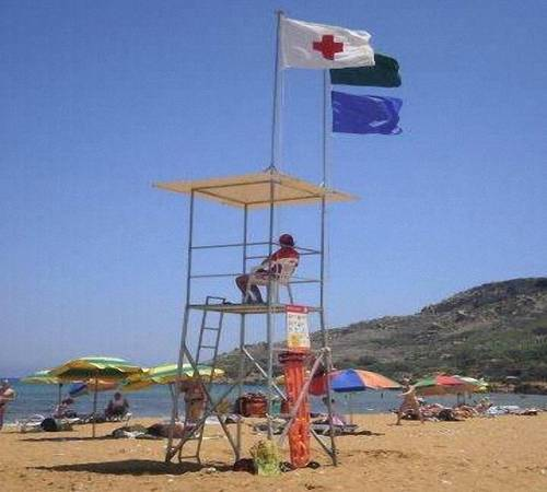 The Red Cross Gozo provide lifeguard service at Ramla Bay
