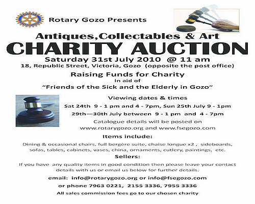 Rotary Gozo to hold charity Antiques & Collectables Auction