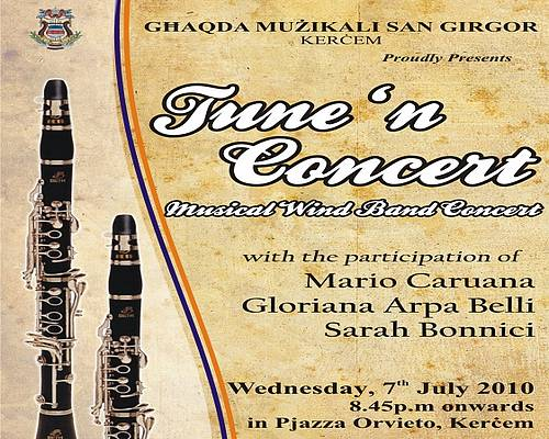 Tune 'n Concert with the St Gregory Band of Kercem