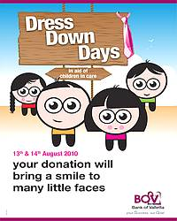 BOV 'Dresses Down' for charity in branches this week