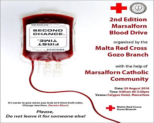 The  Red Cross Gozo to hold second Marsalforn Blood Drive