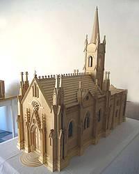 Church models by Mons. Zerafa on display at Ghajnsielem