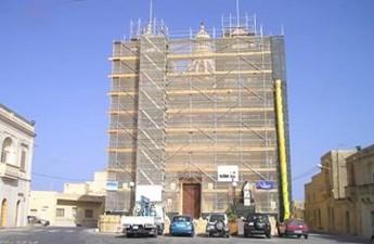 Restoration work on San Lawrenz church well underway