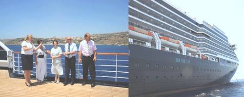 Noordam passengers are given a warm welcome to Gozo