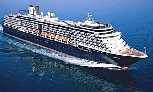 The Noordam cruise liner, the largest ship ever to visit Gozo