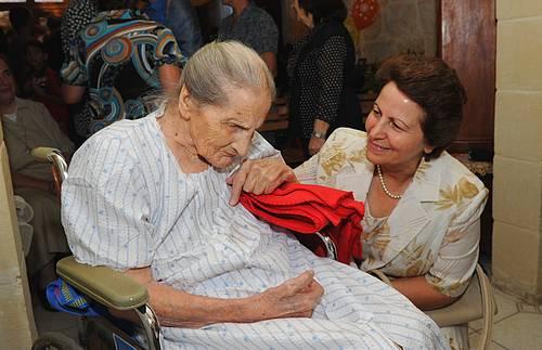 Mrs Maria Tabone of Nadur celebrates her 100th birthday