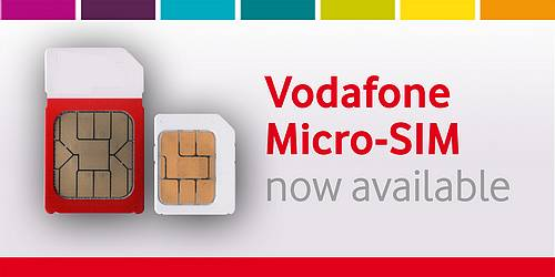 Vodafone unveils their Micro-SIMs for iPhone 4 and iPad