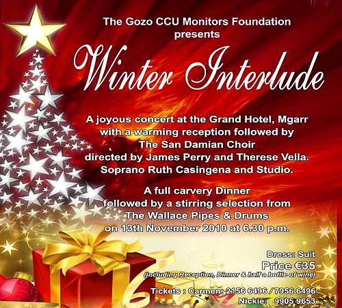 The Gozo CCU Foundation to hold their 'Winter Interlude'
