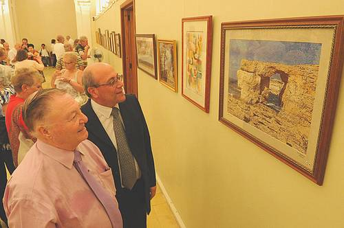 Exhibition of cross-stitch pictures inaugurated in Victoria