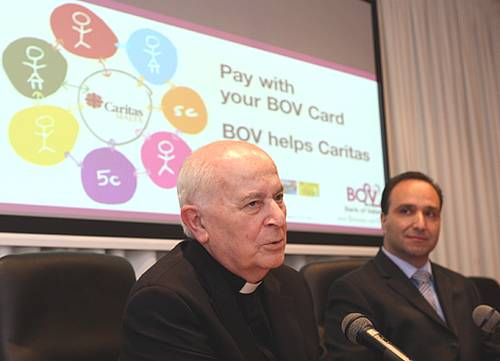 BOV 'Cards for Charity' in aid of Caritas Malta