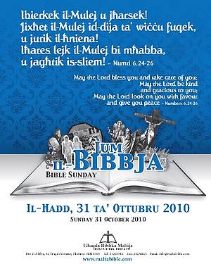 Bible Sunday being celebrated in Gozo and Malta tomorrow